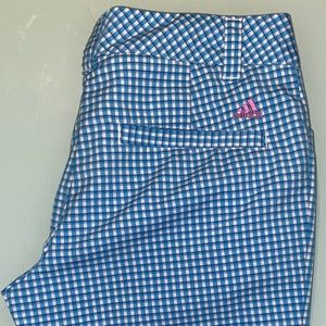 Woman's adidas checkered golf shorts